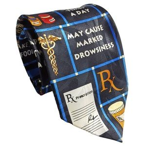Steven Harris Mens Novelty Rx Prescription Tie